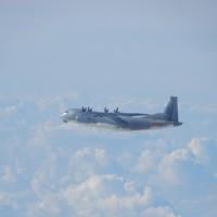 台灣雙十國慶前夕共軍又來亂 運8運9電戰機接近東沙島