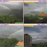 Rainbow in Taipei lasts for 3 hours