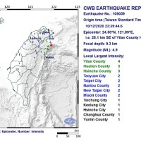 Magnitude 4.9 earthquake shakes northeastern Taiwan