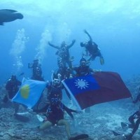 Taiwanese in Palau celebrate National Day underwater