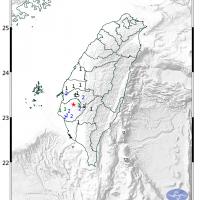 南台灣晚間發生有感地震 台南震度4級
