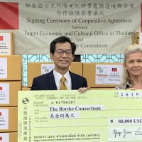 Taiwan makes monetary, mask donations to Thai charity
