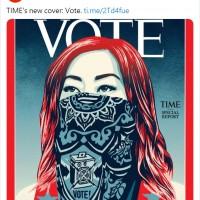 鼓勵投票!美國時代雜誌封面刊名TIME首度換成VOTE