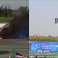 Video shows Chinese drone crash at air show
