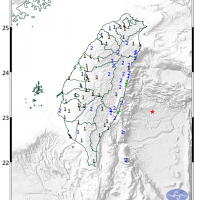 有地震! 台灣東部海域9時40分發生規模5.4地震