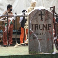Video shows Trump tombstone, demon funeral at Taiwan theme park
