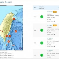 Two earthquakes rock southeastern Taiwan early Tuesday morning