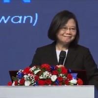 賀台北美國商會正名「台灣」 蔡英文盼促簽雙邊貿易協定