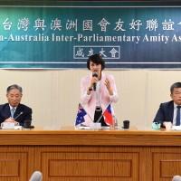 Legislative Yuan launches Taiwan-Australia friendship association