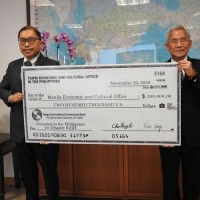 Taiwan donates US$200,000 to the Philippines for typhoon relief