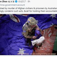 Australian leader calls China's graphic tweet 'repugnant'
