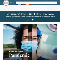 'Pandemic' chosen as Word of the Year