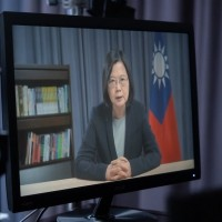 Taiwan president delivers speech to US think tank