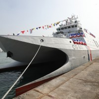 Taiwan president attends launch of Coast Guard's first indigenous patrol ship
