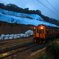 New Taipei railway line damaged by landslide reopens