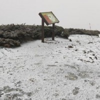 Snow falls on Taiwan's 2nd highest mountain