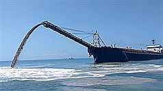 Chinese dredger forced to return sand to Taiwan's Matsu