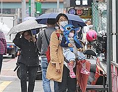 東北季風持續在台灣發威 出門需添加衣物、帶傘