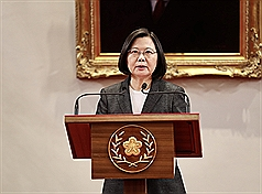 Taiwan president commemorates 100 years of Air Force