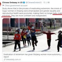 Chinese Embassy calls Uyghur women 'baby-making machines'