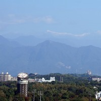 Snow on Taiwan's tallest peak visible from afar