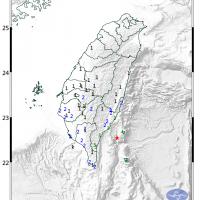 東台灣17日清晨發生地震 芮氏規模5.4