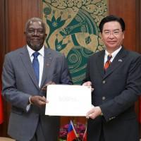 台灣加勒比海友邦海地大使到任 外交部:盼共同深化兩國邦誼