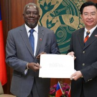 Taiwan's foreign minister receives credentials from new Haitian ambassador