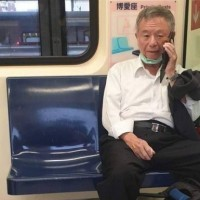 Former KMT health minister caught not wearing mask on Taipei MRT