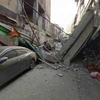 Building collapses in Taiwan's Kaohsiung after 5.0 quake