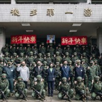Taiwan president visits army base to thank soldiers for standing guard during Spring Festival