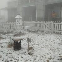 【最新】台灣玉山13日降「雪粒」•一小時內積雪0.7公分 花蓮松雪樓意外降2波冰雹