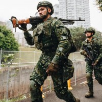 Taiwan Army Special Forces conduct drills in Tamsui