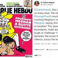 英國女王將梅根壓制在地? 法國漫畫不當比喻惹議