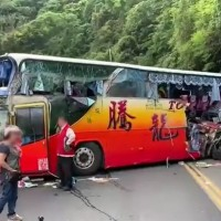 Update: 6 die, 39 injured in northeast Taiwan tour bus crash