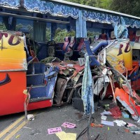 Tour bus driver claims brakes gave out before northeast Taiwan crash
