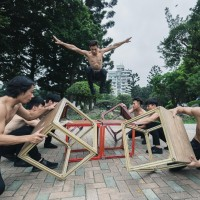 Taiwan's Cloud Gate ropes in circus for weekend party