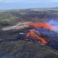 驚嚇活躍三日 冰島火山爆發漸平息