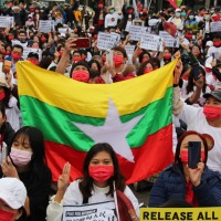 Myanmar community rallies in Taipei against junta back home