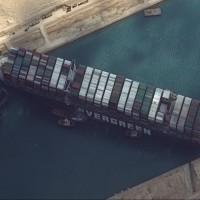 【榮困淺灘】長榮貨輪卡蘇伊士運河 美國海軍即刻救援