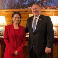 Taiwan representative to US meets with former Secretary of State Pompeo