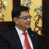 Singapore's designated future leader steps aside