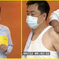 【係真A•注射給你看】台灣AZ疫苗擴大施打首日 副指揮官陳宗彥「秀肌肉」帶頭接種•羅一鈞做「糖友」表率