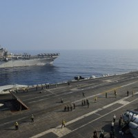 2 US carriers patrol south of Taiwan as 25 Chinese warplanes swarm strait