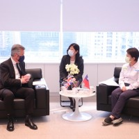 British envoy discusses green energy with mayor of Taiwan's Taichung