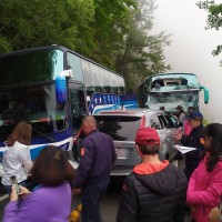 11 injured in bus crash on Taiwan mountain road