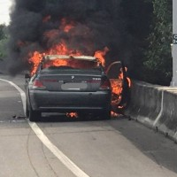 Beamer bursts into flames in southern Taiwan