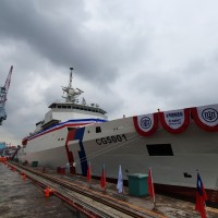 Taiwan Coast Guard takes delivery of largest frigate