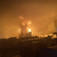 Video shows massive fire break out in Kaohsiung steel mill