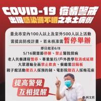 【更新】台灣本土個案激增•北市啟動「準第三級」防疫措施 萬華區加強快篩•「強烈建議」不要群聚
